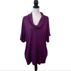 Xhilaration Knit Top XL Purple Cowl Neck Pullover
